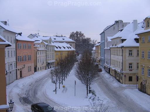 Na Kampe in Prague, Winter Picture