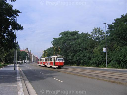 Tram on Sokolovska Street near Invalidovna